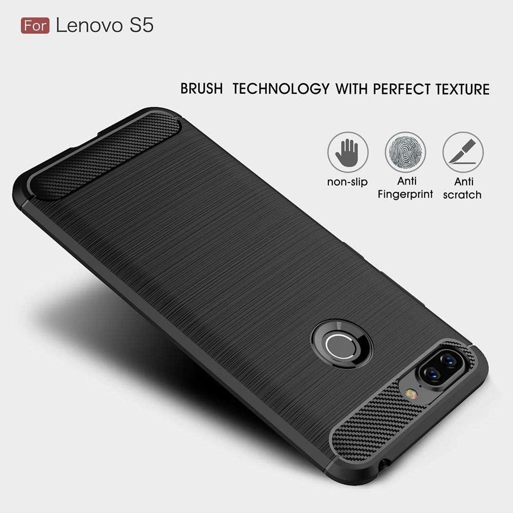 Sangrl Funda para Lenovo S5, Textura Fibra de Carbono Case [Anti ...
