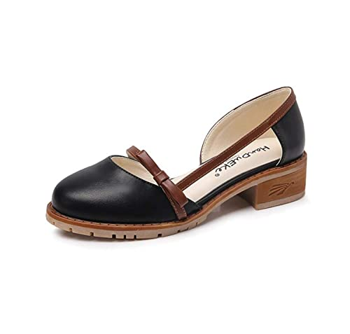 Mocasines de Mujer Brogue Fashion Summer Bow Vintage Lady Student Shoes: Amazon.es: Zapatos y complementos