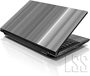 """LSS Laptop 15 15.6 Skin Cover with Colorful White Grey Simple Pattern for HP Dell Lenovo Apple Asus Acer Compaq - Fits 13.3"""" 14"""" 15.6"""" 16"""" (2 Wrist Pads Free)"""