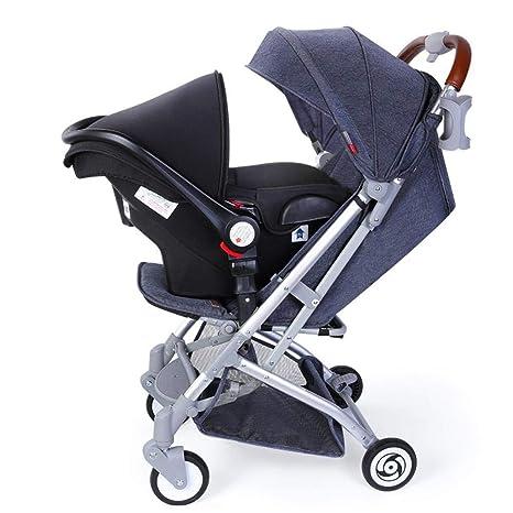 Olydmsky Carro Bebe, Cochecito de bebé Plegable Puede ser reclinado Seguridad de Tipo de Cesta