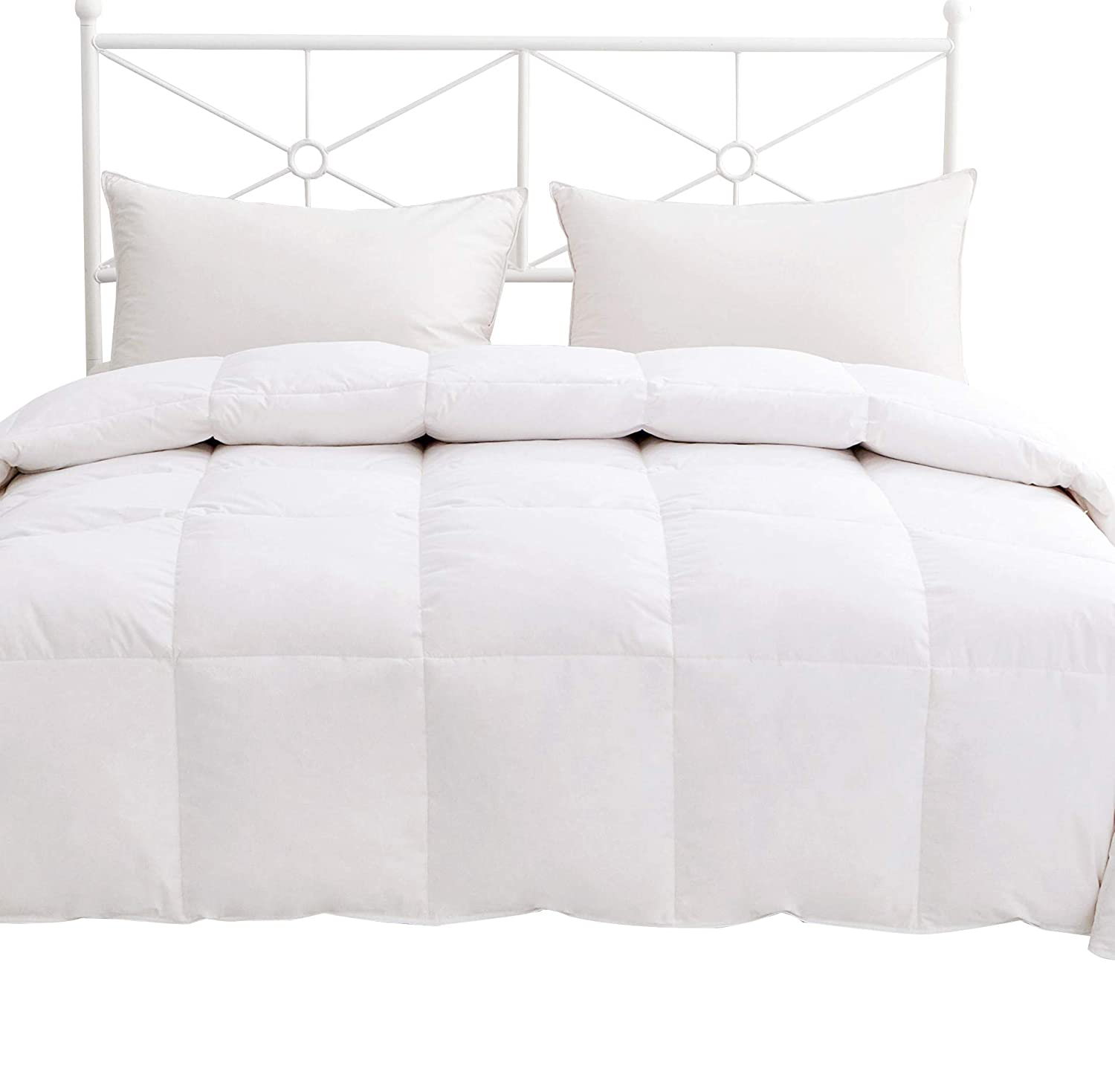 Homefocus Single Bed Duvet - Luxury White Goose Feather & Down Duvet/Quilt, 13.5 Tog, 100% Cotton Shell, Anti-dust mite & Feather-proof Fabric Anti-allergen