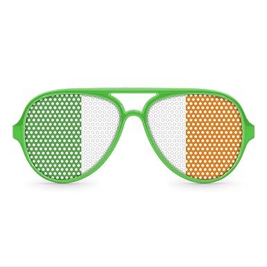 Amazon.com: Irlandés Aviator anteojos de sol de fiesta ...