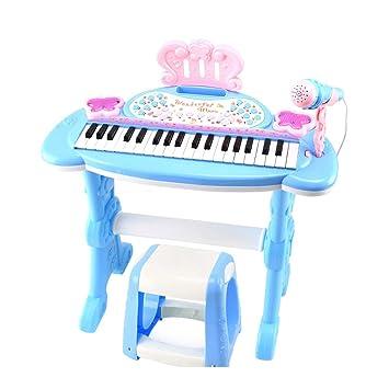 XUEYING-TOY Juguete Teclado Teclado Niños Principiantes Los pequeños Juguetes para Piano Pueden Tocar Bebé Niños Piano Música Juguetes 3-6 años (Color ...