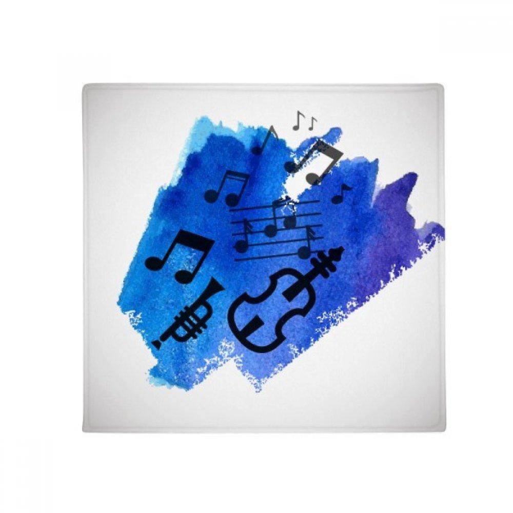 DIYthinker Music bluee Backgroundstreet Illustrate Anti-Slip Floor Pet Mat Square Home Kitchen Door 80Cm Gift