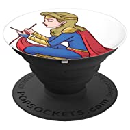 Knitting Super Woman Phone Pop Creative - PopSockets Grip and Stand for Phones and Tablets