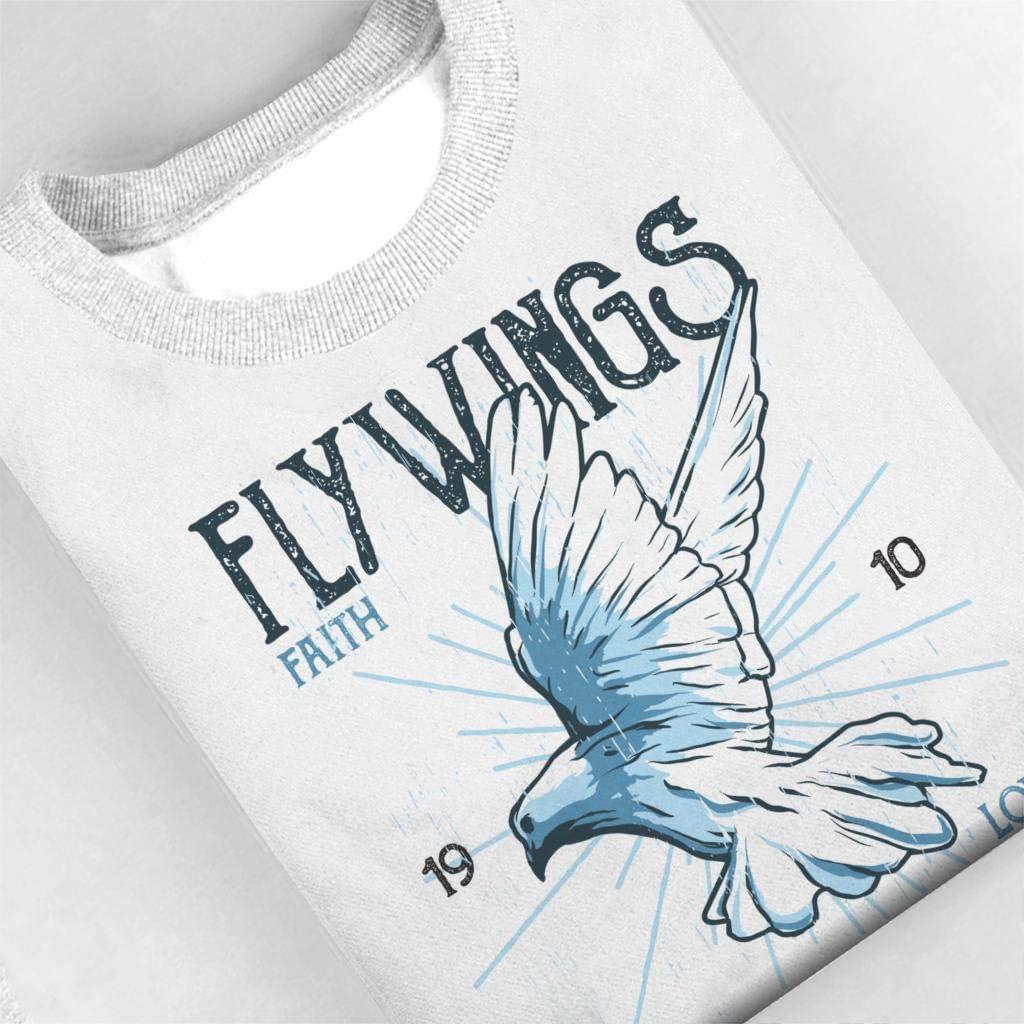 Coto7 Fly Wings Holy Spirit Kids Sweatshirt