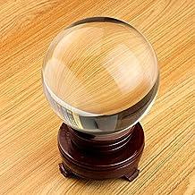 Yosoo 40mm Clear Crystal Ball Sphereswith Stand for Magic Photography Meditation Home Decor