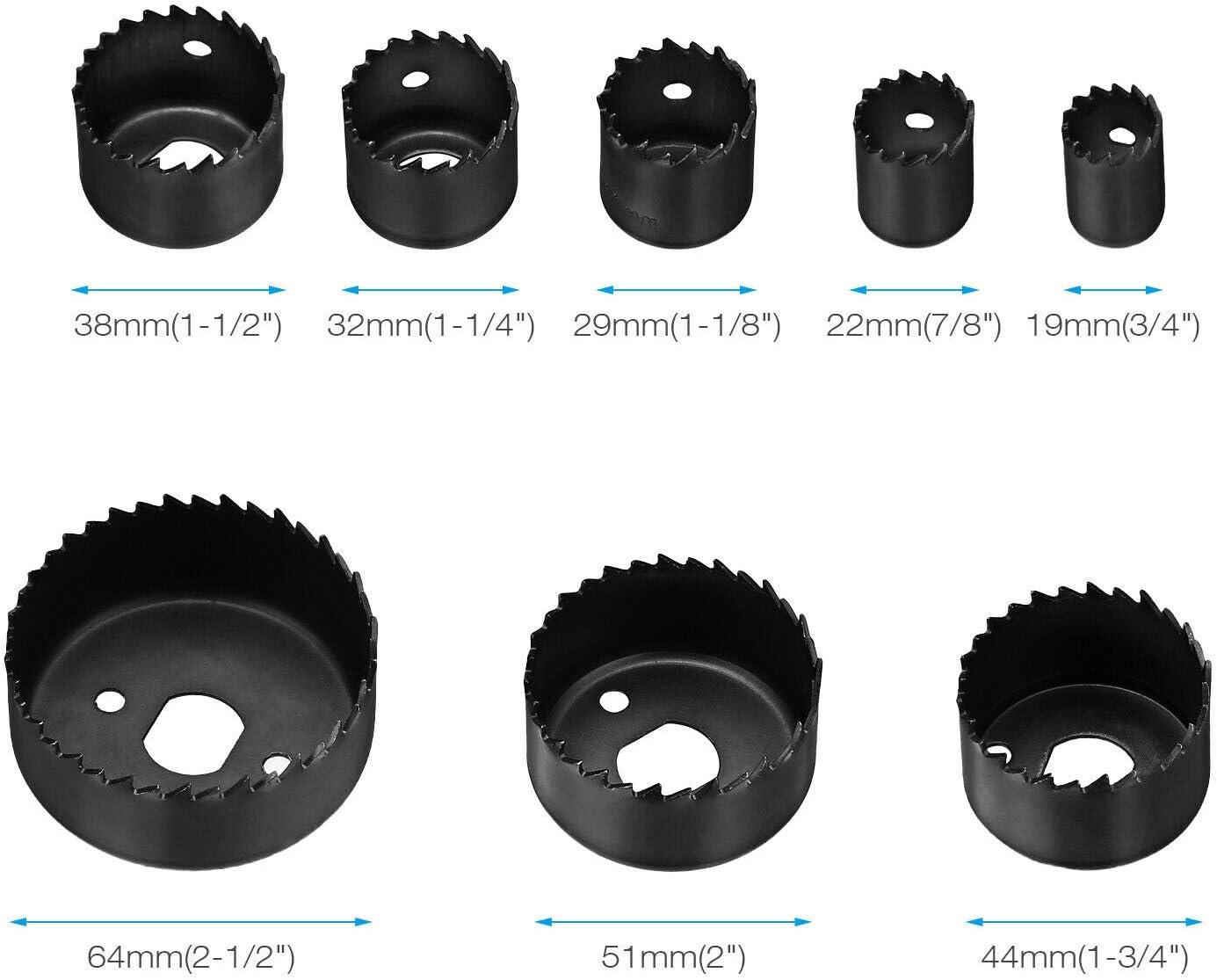 """28PCS Hole Saw Drill Bit Kit Mandrel Wood Sheet Metal Plastic 3//4/"""" to 4-3 ji"""