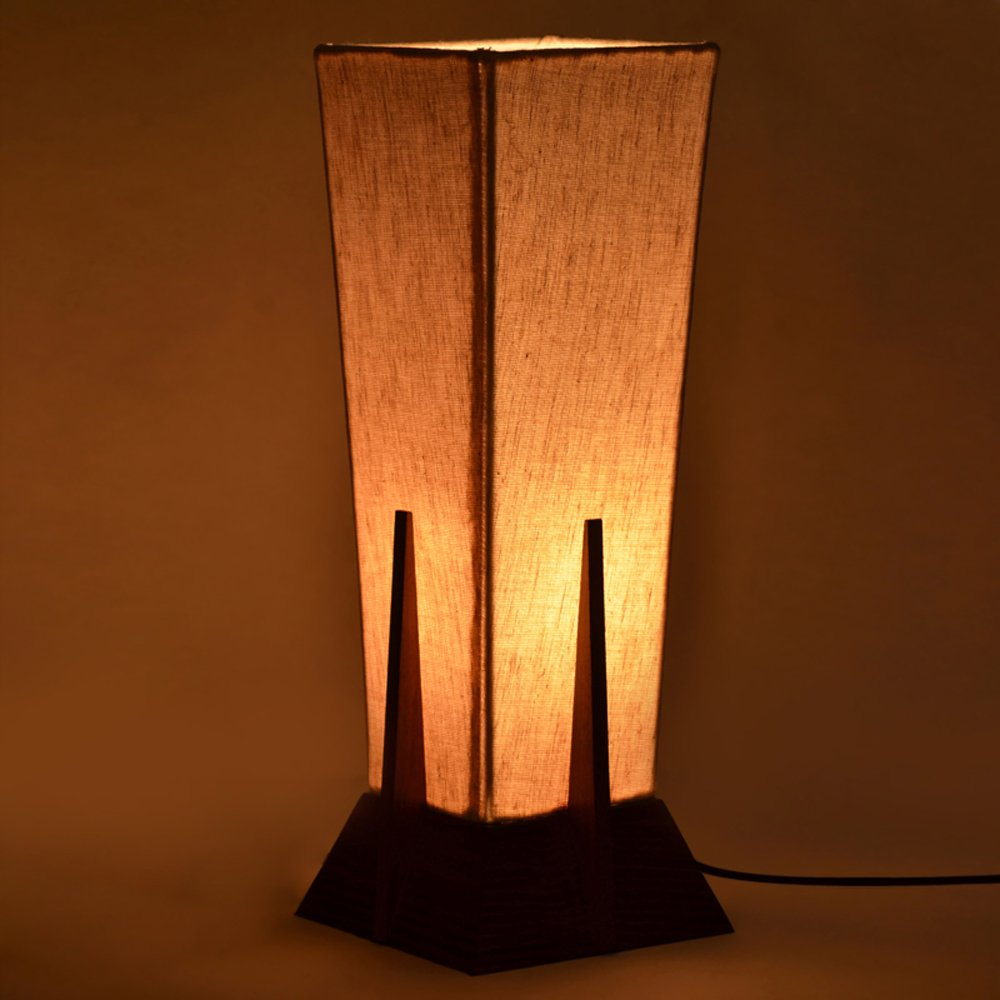 Buy exclusivelane 14inch pyramid lamp in sheesham wood lamps for buy exclusivelane 14inch pyramid lamp in sheesham wood lamps for living room lamp electric lamp table lamp home dcor lamps lighting online at low prices aloadofball Images