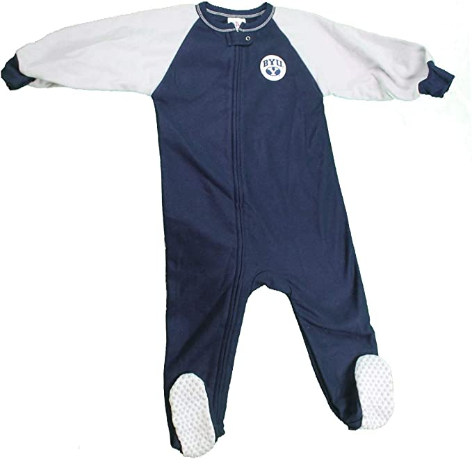 NCAA Brigham Young University Baby 2-Pack Fleece Footed Sleep Play