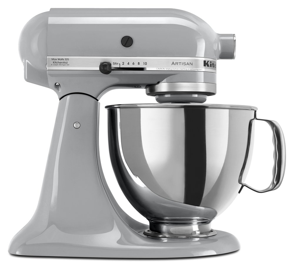 KitchenAid KSM150PSMC Artisan Series 5-Qt. Stand Mixer with Pouring Shield - Metallic Chrome
