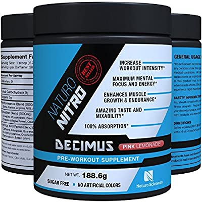 Naturo Nitro - Decimus Pre Workout Supplement