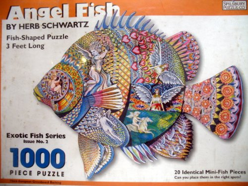 Angel Fish by Herb Schwartz 1,000 pc. Jigsaw Puzzle Exotic Fish Series Issue No. 2