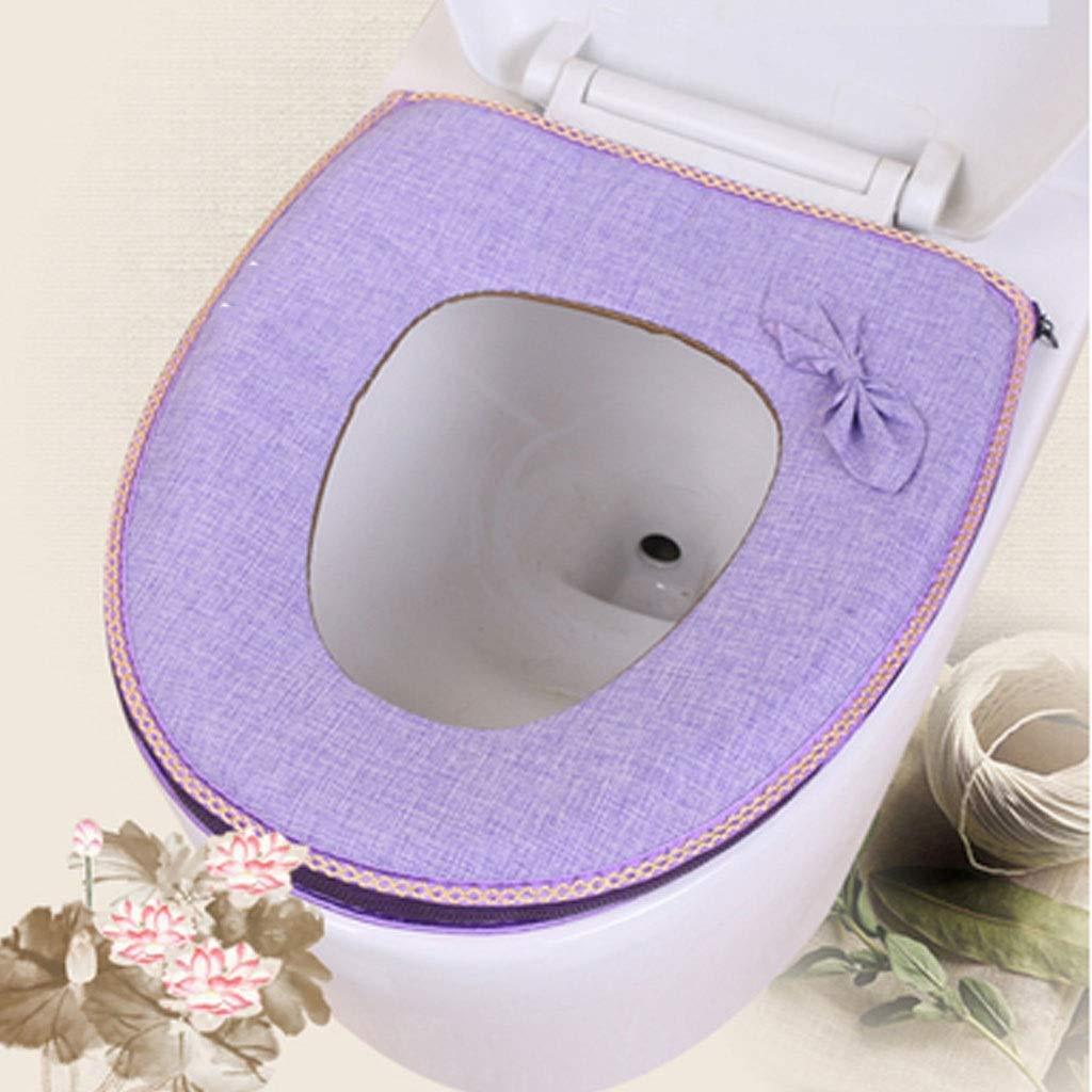 YS-FeiTeng Toilet seat Cushion Toilet seat Cushion Toilet seat Linen seat Cover Summer Zipper Universal U-Shaped Toilet seat Toilet Toilet Set (Color : A) by YS-FeiTeng