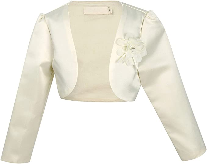 Jacket Bolero Shrug Coat Short Cardigan Bridesmaids Flower Girls Parties Dress