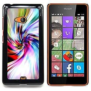 Stuss Case / Funda Carcasa protectora - Hipster psicodélico ondulado - Nokia Lumia 540