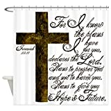 CafePress - Plan Of God Jeremiah 29:11 - Decorative Fabric Shower Curtain (69''x70'')