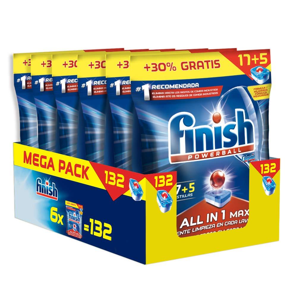 Finish Todo en 1 Max Regular Pastillas para Lavavajillas - 132 ...