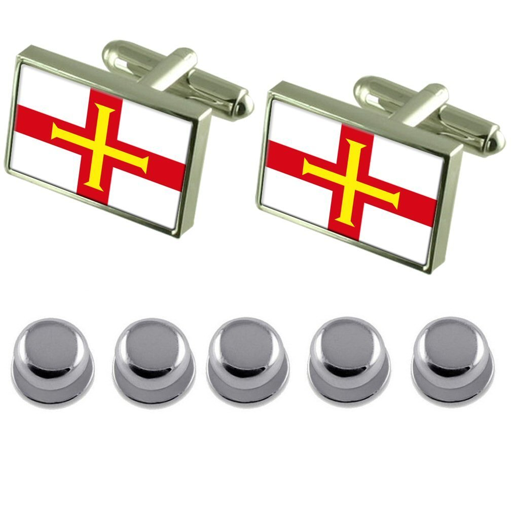 Shirt Dress Studs Guernsey Flag Cufflinks