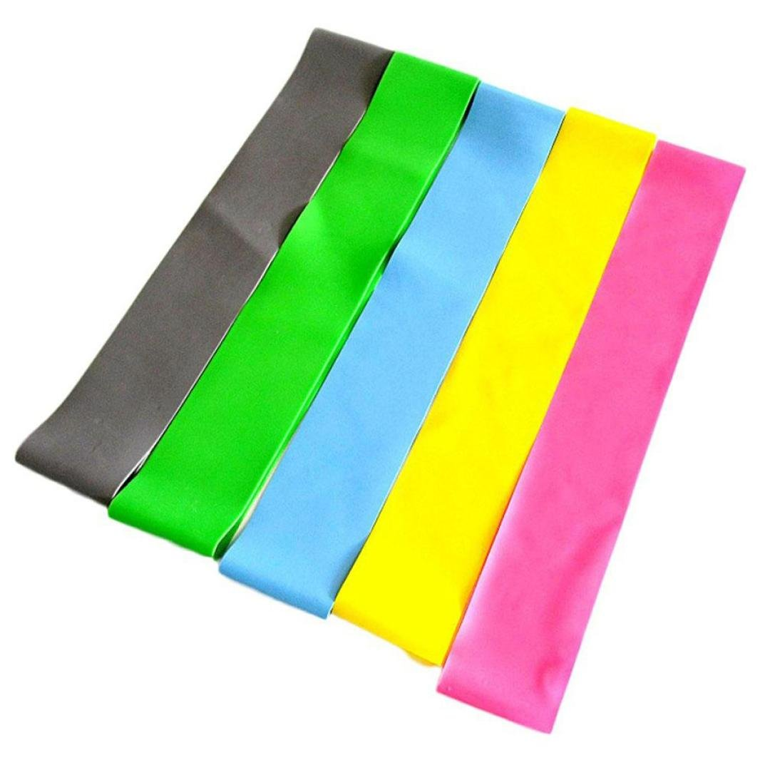 LtrottedJ Resistance Band Loop Yoga Pilates ,Home GYM Fitness Exercise Workout Training by LtrottedJ (Image #6)