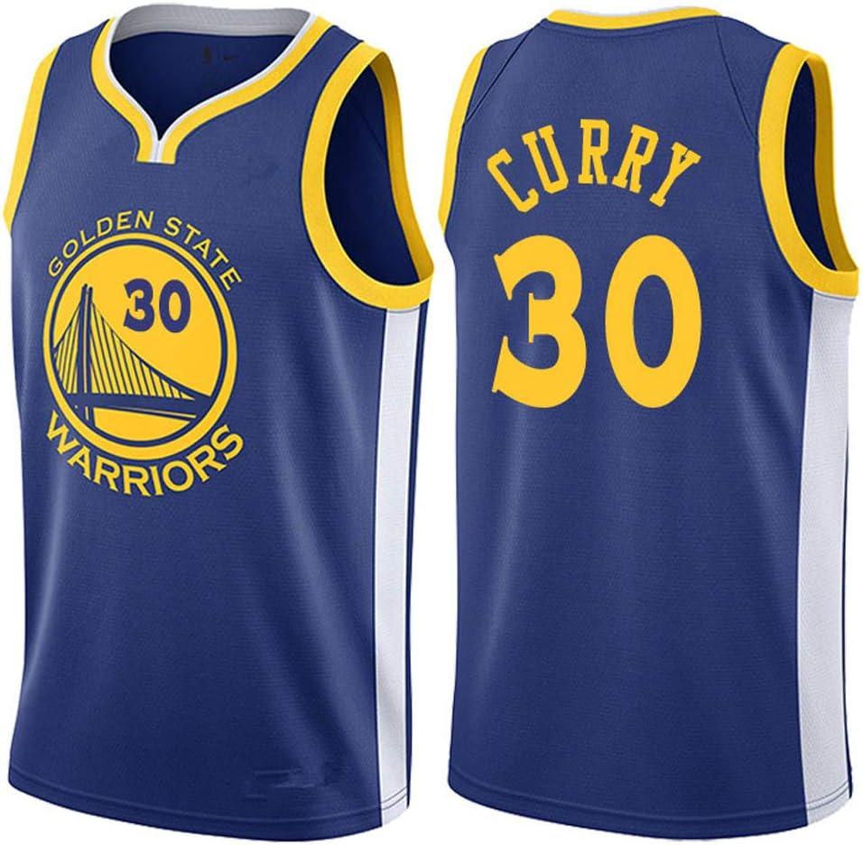 Oquta Stephen Curry Warriors #30 Basketball Jersy Blue White Black ...