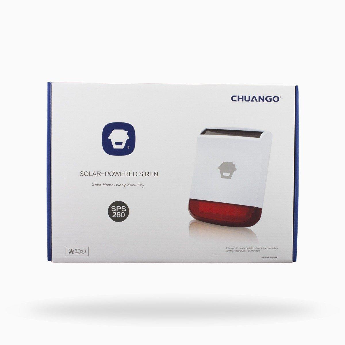 Chuango CG-8800G3 Blanco Sistema de Alarma de Seguridad - Sistemas de Alarma de Seguridad (110 dB, -10-55 °C, Blanco, Sensor, 110-240, 7,4 V)