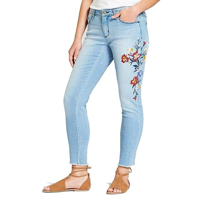 Amazon.com: Pantalones vaqueros de hilo universal para mujer ...