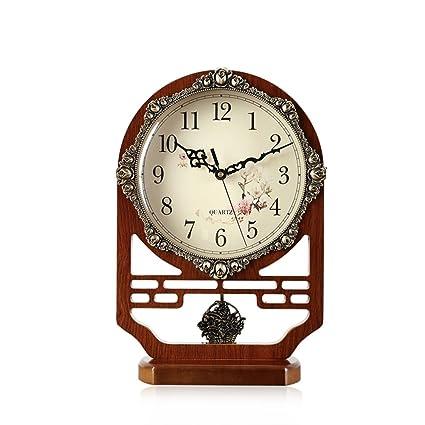 reloj chino grande reloj Complejo clásico decorativo salón relojes de péndulo silencioso reloj de escritorio creativo