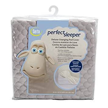 Serta Perfect Sleeper Changing Pad Cover Set, Gray