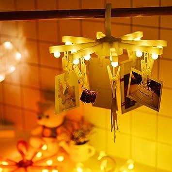 Amazon.de: owikar LED Foto Clips Kleidung Kleiderbügel Lampe Socke ...