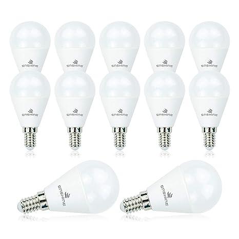 ENSHINE Mini Bombilla Globo LED Esférica Casquillo E14, G45, 7W Equivalente a 45W,