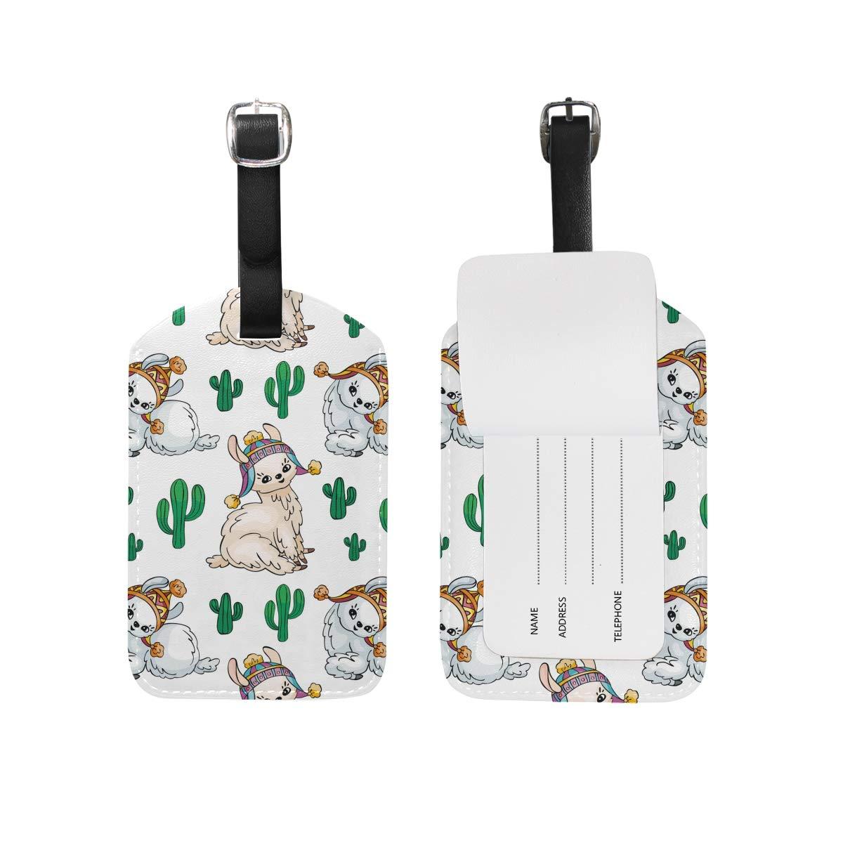 Saobao Travel Luggage Tag Beautiful Unicorns PU Leather Baggage Suitcase Travel ID Bag Tag 1Pcs