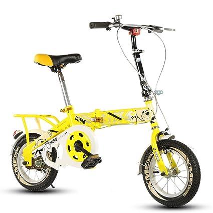 Bicicleta plegable para niños, 12-14-16-20 pulgadas para niños y