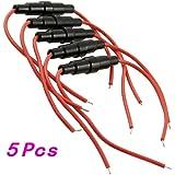 5 pièces Vis Type de câble 5 x 20mm Titulaire Inline Fuse 22 AWG