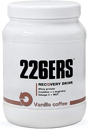 226ERS Recovery Drink, Recuperador a base de Proteína, Creatina, Hidratos de Carbono, Triglicéridos y L-Arginina, Vainilla Café 500 g