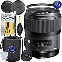 Sigma 35mm f/1.4 DG HSM Art Lens for Nikon F Mount + Essential Lens Bundle