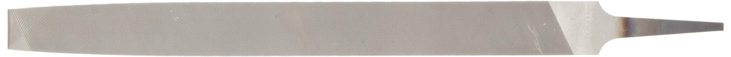 Nicholson Flat Hand File (Boxed), American Pattern, Double Cut, Rectangular, Fine, 12'' Length