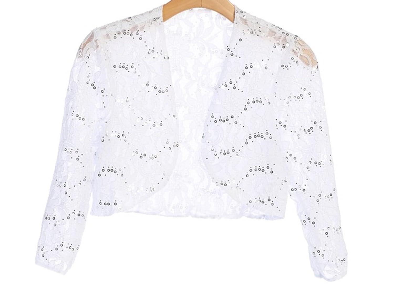 c3e7e50f217 Amazon.com  New Angel s 3 4 Sleeve Lace Bolero Bridal Jacket Bodice Fully  Lined Shrug Jacket Plus S-5X  Clothing