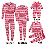 Hometom Christmas Family Clothes Thermal Underwear Set (Kid, 2T)