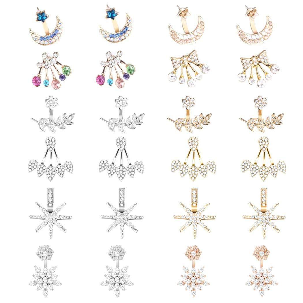 Alloy Hollow Lotus Flower Stud Earrings Wedding Party Gift. Eubell Stainless Steel Stud Earrings