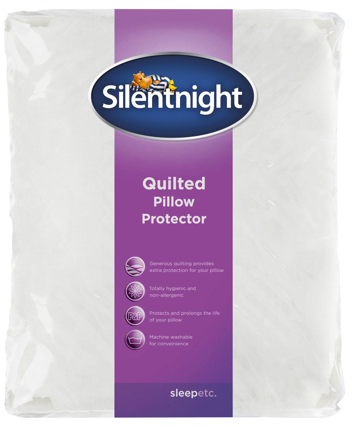Silentnight Quilted Pillow Protector, Pair