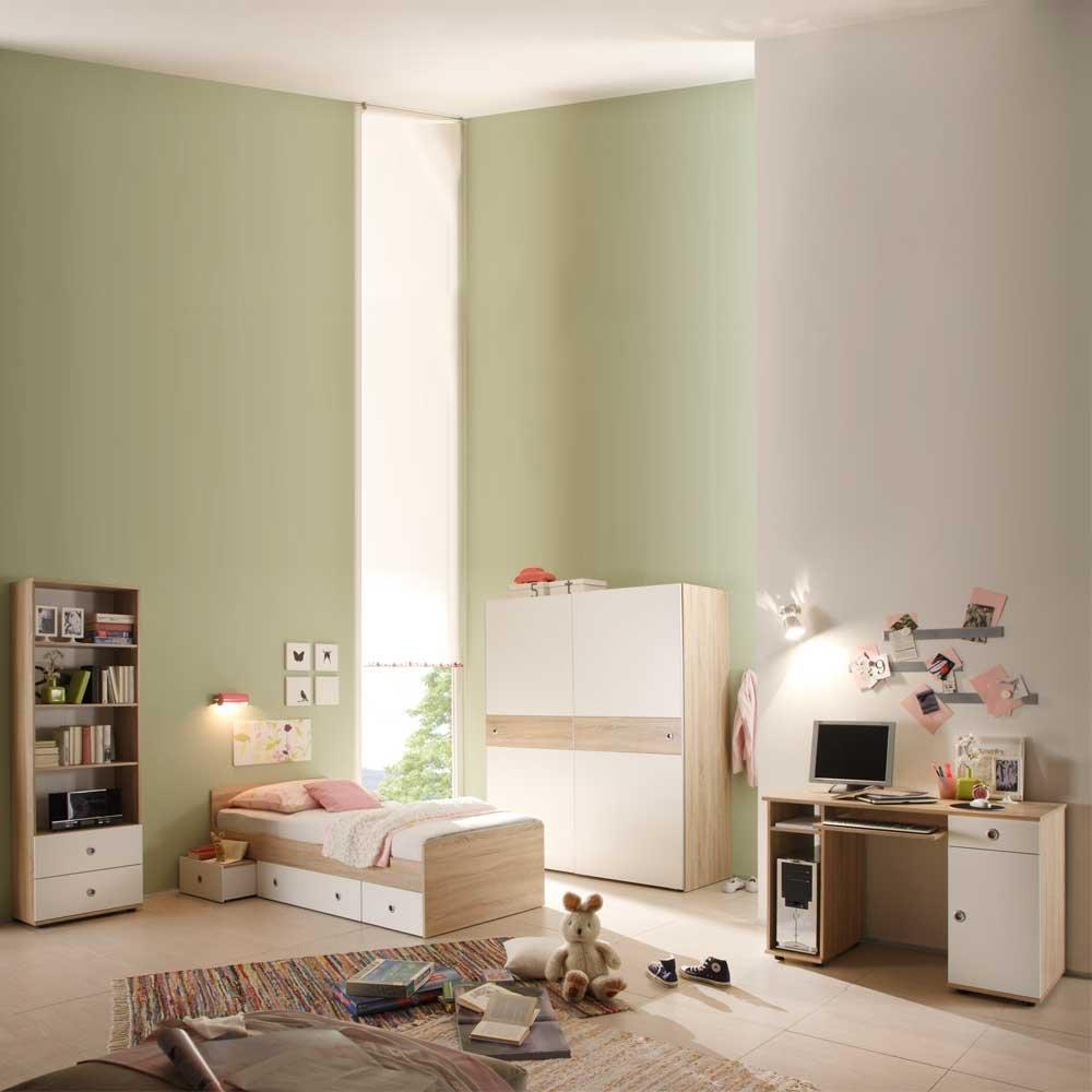 Pharao24 Kinderzimmerset Weiß Holz