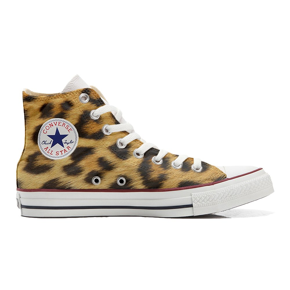 Converse All Star Customized with printed Italian style (handmade shoes)  leopard - size 44 EU  Amazon.co.uk  Shoes   Bags d16f87f7b202