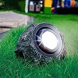 Solar Rock Lights Outdoor ,Waterproof Decorative Stone Light, Dual Color Spotlight ,Landscaping Figurine Lights for Decor, Ga