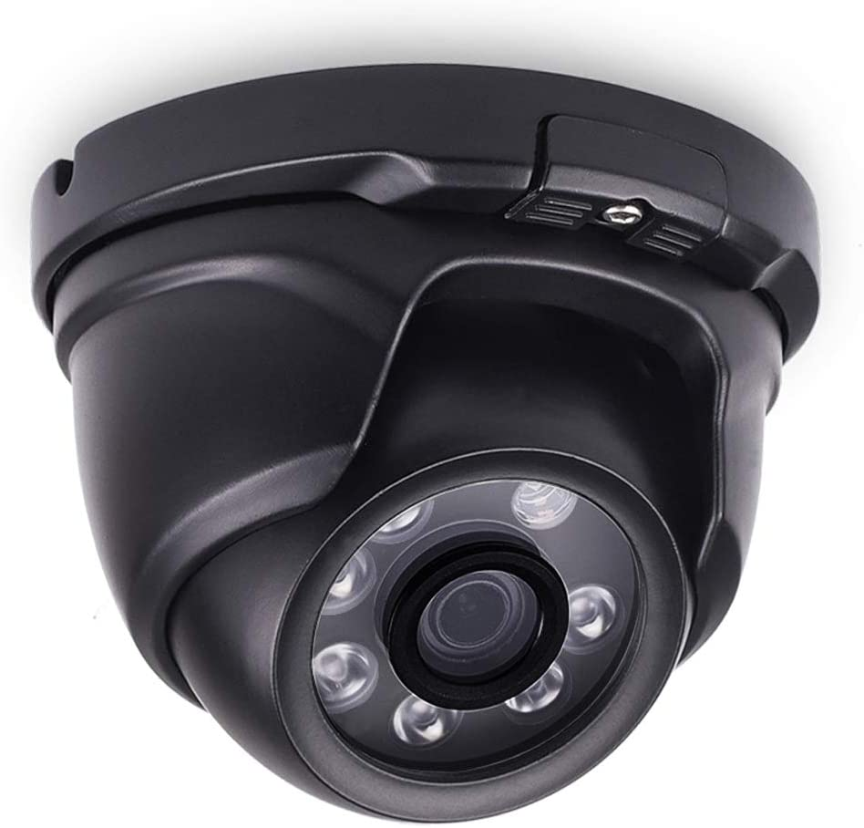 Tonton Full HD 1080P 2.0MP Indoor Outdoor Dome Camera,Full Metal Housing,Night Vision up to 65 Ft,6PCS Infrared LED with IR Cut,Suitable for TVI and Hybrid Security Camera System and DVR Black