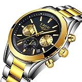 Men Watches Fashion Business Quartz Analog Watch Luxury Fashion Sport Wristwatch Waterproof 30M Stainless Steel Male Watches