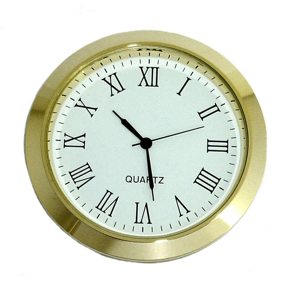 Free Spare Battery Slim 60mm QUARTZ CLOCK INSERT//FIT-UP Clock Movement