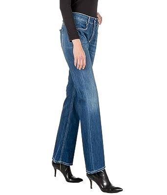 DONDUP - Pantalones Vaqueros para Mujer, Color Azul Vaquero ...