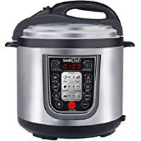 GeekChef New generation 11-in-1 Multi-Functional Electric Pressure Cooker,6Qt/1000W,Stainless Steel Cooking Pot,Stainless steel lid,Anti-fingerprint stainless steel housing,extra cookbook