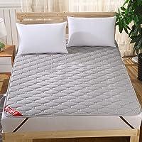 ベッドパッド 敷きパッド 綿100% 丸洗いできる ベッドシーツ 防ダニ 抗菌防臭 吸汗 速乾 ズレ防止ゴムバンド付き ベットパッド 裏地がズレ防止素材使用 マットレス・パッド ベッドマット 敷パッド 二重滑り止め対策